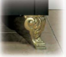 Brass Scroll Feet