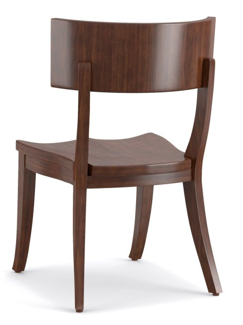 Dining Room Scoop Wood Klismos Chair