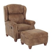 Bentley Press Back Chair & Ottoman Product Image