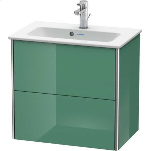 Vanity Unit Wall-mounted Compact, Jade High Gloss Lacquer