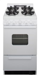 20 in. Freestanding Battery-Generated Spark Ignition Gas Range in White Product Image