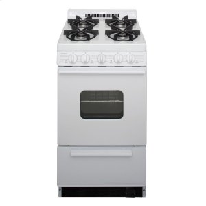 Premier20 in. Freestanding Battery-Generated Spark Ignition Gas Range in White