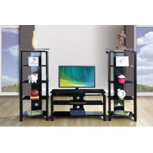 Ebony TV Stand Set