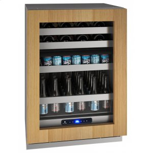 "U-Line24"" Dual-zone Beverage Center With Integrated Frame Finish and Field Reversible Door Swing (115 V/60 Hz Volts /60 Hz Hz)"