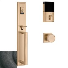 Distressed Oil-Rubbed Bronze Evolved Hollywood Hills Full Escutcheon Handleset
