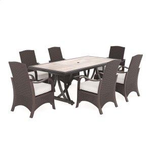 Ashley Furniture Marsh Creek - Brown 4 Piece Patio Set