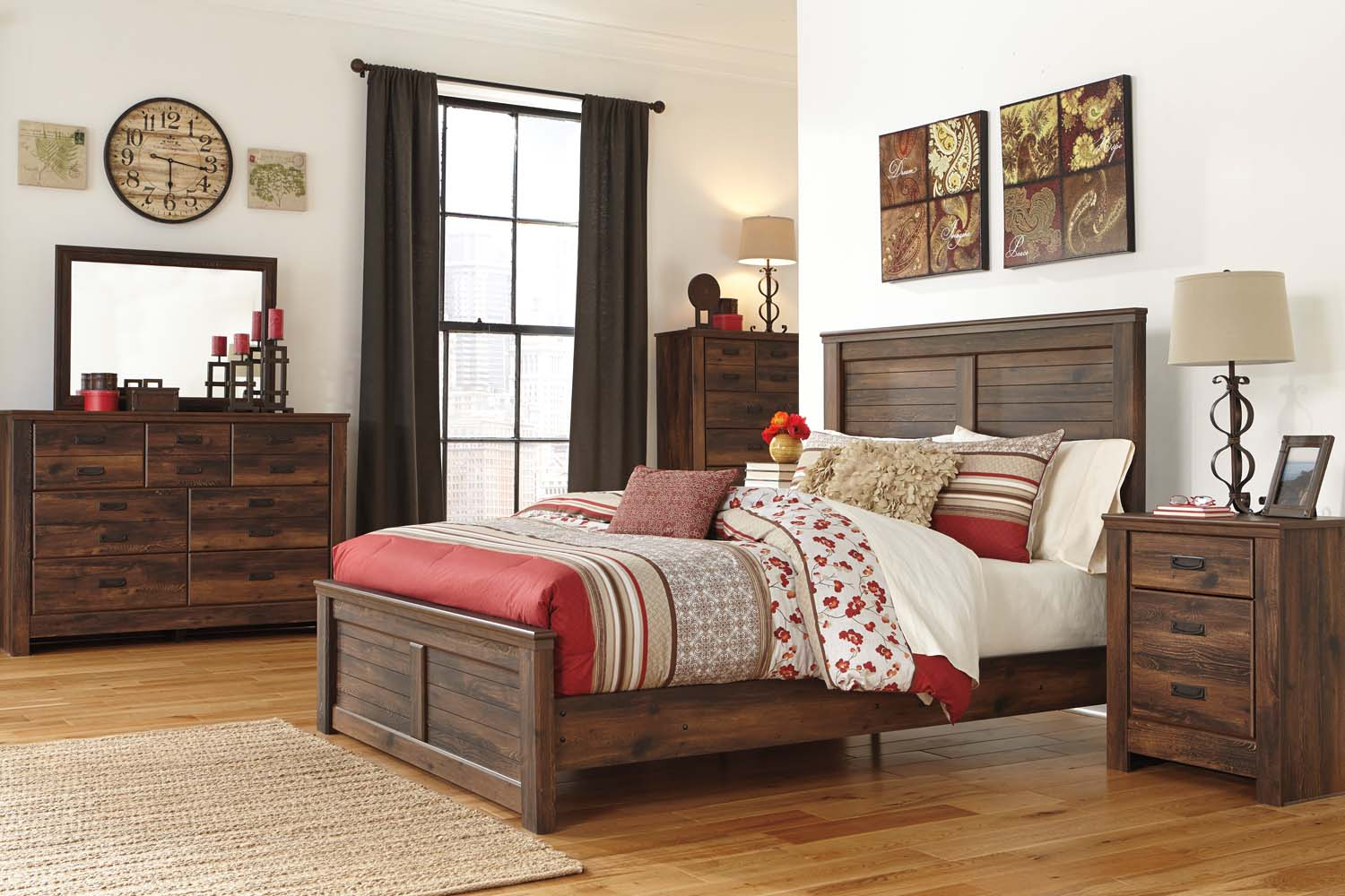 Awesome Quinden   Dark Brown 7 Piece Bedroom Set