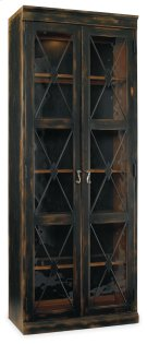 Living Room Sanctuary Two-Door Thin Display Cabinet - Ebony Product Image