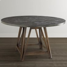 "Custom Dining 48"" Patina Table w/Atlas Base"