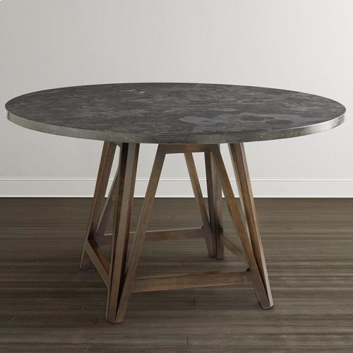 """Custom Dining 54"""" Copper Table w/Turned Base"""