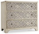 Living Room Sanctuary Fretwork Chest-Pearl Essence Product Image