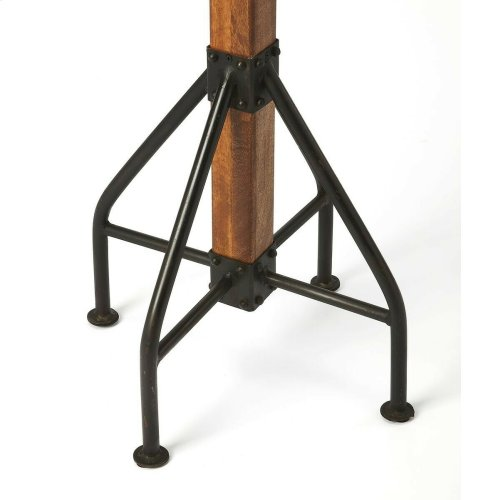 """Part of the Mountain Lodge collection, this costumer exudes a compellingly honest """"I'm rustic and I'm proud aesthetic. It is also practical, with abundant black-metal hardware for coats, hats and umbrellas. Crafted in recycled wood solids, the transparent"""