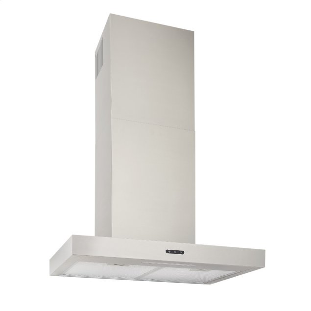 Broan 30-In. Convertible Wall Mount T-Style Chimney Range Hood with LED Light in Stainless Steel