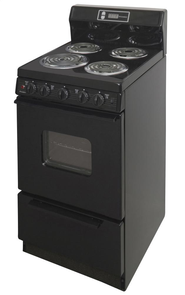 20 in. Freestanding Electric Range in Black Photo #3