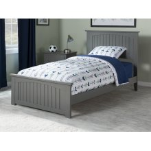Nantucket Twin Bed with Matching Foot Board in Atlantic Grey