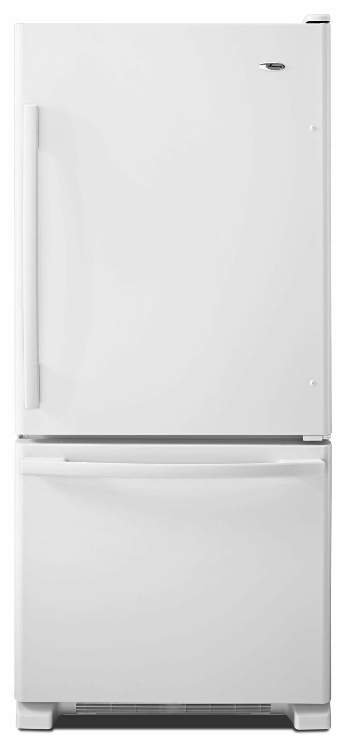 Amana29-Inch Wide Bottom-Freezer Refrigerator With Easyfreezer Pull-Out Drawer -- 18 Cu. Ft. Capacity - White