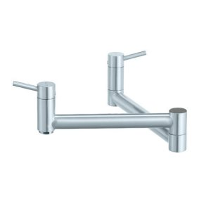 Blanco Cantata Wall Mounted Pot Filler - Satin Nickel