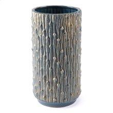Knot Md Vase Blue & Gold