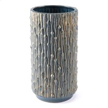 Knot Md Vase Blue & Gold