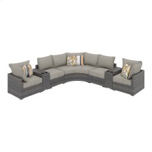 Spring Dew V Sectional w/ Consoles