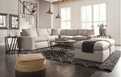 Savesto - Ivory 5 Piece Sectional