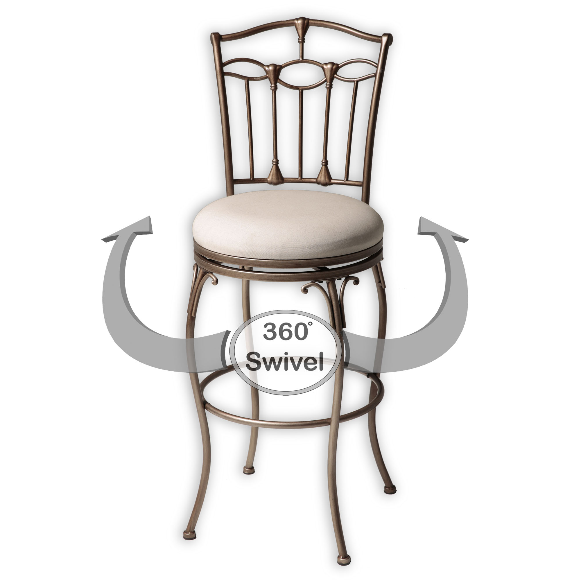 C1M070 In By Fashion Bed Group In Dickson, TN   Concord Metal Barstool With  Linen Upholstered Swivel Seat And Brushed Bronze Frame Finish, 30 Inch