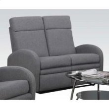 Gray Linen Loveseat W/motion