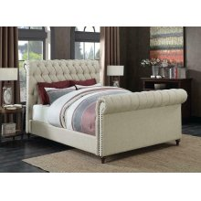 Gresham Beige Upholstered Full Bed