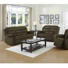 Rodman Chocolate Reclining Two-piece Living Room Set