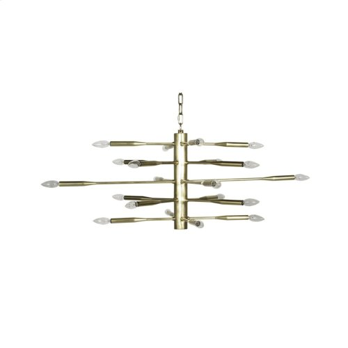 Antique Brass Sputnik Chandelier Featuring 20 Sockets for Bulbs
