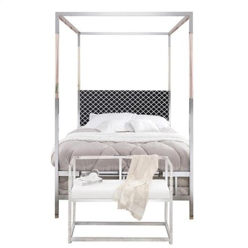RAEGAN GRAY VELVET QUEEN BED