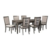 Chadoni - Gray 7 Piece Dining Room Set