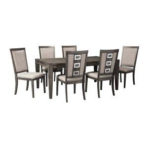 Ashley Furniture Chadoni - Gray 7 Piece Dining Room Set
