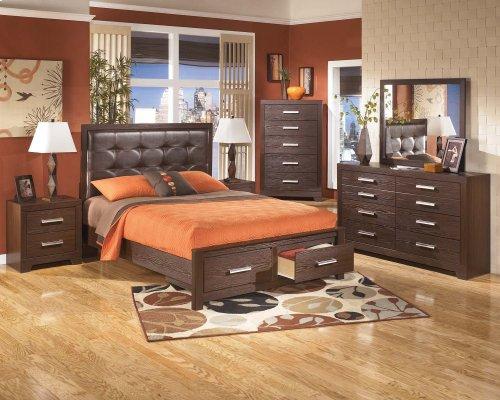 King Panel Storage Bed