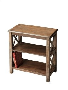 Crafted from poplar hardwood, maple veneers and wood products in the Dusty Trail finish, this bookcase is designed to enhance any décor with style and function.
