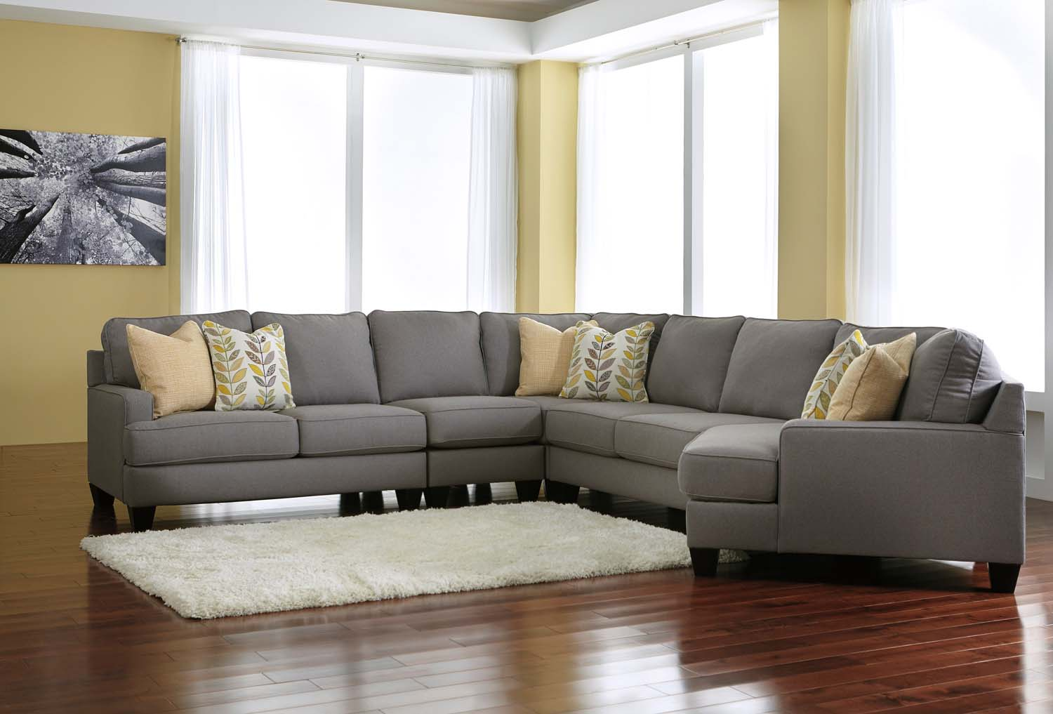Chamberly   Alloy 5 Piece Sectional