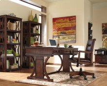 Devrik - Brown 3 Piece Home Office Set