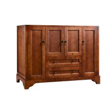 "Milano 48"" Bathroom Vanity Cabinet Base in Colonial Cherry"