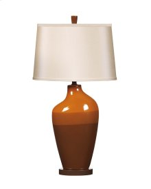 Ceramic Table Lamp (2/CN) Shila - Brown Collection Ashley at aztec Distribution Center Houston Texas