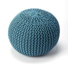 A beautiful room accent, this woven pouffe is ideal for extra seating where space is limited. Resembling a pincushion, it features a 100% wool felt outer shell and high density thermocol beans inside for comfort and durability. Product Image