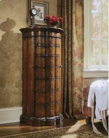Accents Shaped Jewelry Armoire-Cherry