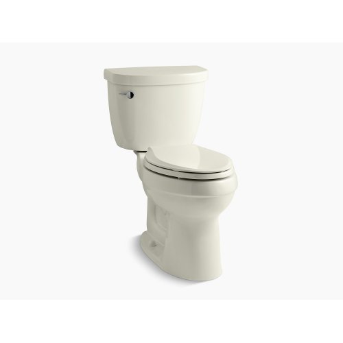 Biscuit Comfort Height Two-piece Elongated 1.28 Gpf Toilet With Aquapiston Flushing Technology, Left-hand Trip Lever and Insuliner Tank Liner, Seat Not Included