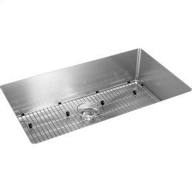 """Elkay Crosstown 16 Gauge Stainless Steel 30-1/2"""" x 18-1/2"""" x 8"""", Single Bowl Undermount Sink Kit"""
