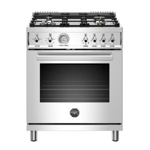 "Bertazzoni30"" Professional Series range - Gas oven - 4 brass burners - LP version"