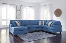 Brioni Nuvella - Blue 3 Piece Sectional