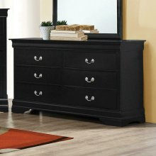 Louis Philippe Black Six-drawer Dresser