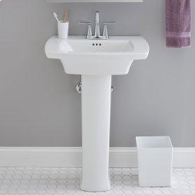 """Edgemere Pedestal Sink  4"""" Centers  American Standard - White"""