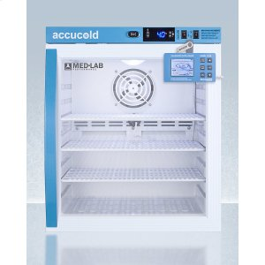 SummitPerformance Series Med-lab 1 CU.FT. Compact Glass Door All-refrigerator for Laboratory Storage With Factory-installed Data Logger