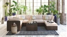 Spring Ridge - Beige/Brown 5 Piece Patio Set