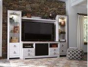 Willowton - White Wash 5 Piece Entertainment Set Product Image